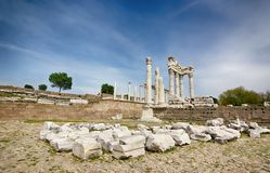 Temple of Acropolis, Ancient Greek royalty free stock photos