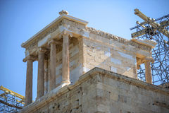Temple in the Acropolis, Athens, Greece. Royalty Free Stock Images