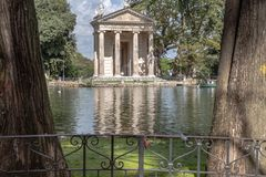 Temple of Aesculapius stock photo