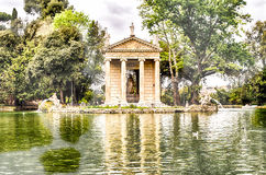 Temple of Aesculapius in Villa Borghese, Rome Stock Images