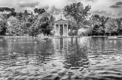 Temple of Aesculapius in Villa Borghese, Rome Royalty Free Stock Images