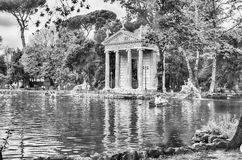 Temple of Aesculapius in Villa Borghese, Rome Stock Photography