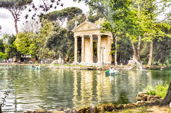 Temple of Aesculapius in Villa Borghese, Rome Royalty Free Stock Photo
