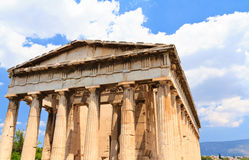Temple in Agora at Athens Stock Photo