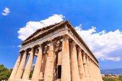 Temple in Agora at Athens Royalty Free Stock Photos