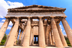 Temple in Agora at Athens Royalty Free Stock Photography