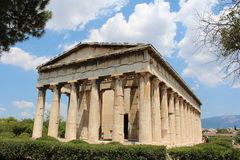 Temple Agora, Athens. Full view. Near the acropolis Royalty Free Stock Image