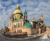 Temple of All Religions, Kazan stock photo