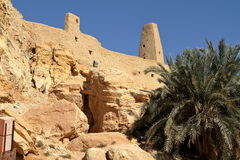 The Temple of Ammon in the oasis town of Siwa Stock Photo