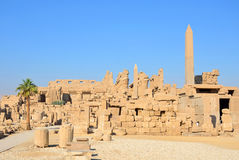 Temple of Amun. At Karnak temple complex in Luxor,Egypt Royalty Free Stock Image