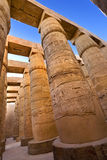 Temple of Amun at Karnak. Egypt. Karnak Temple Complex - the Precinct of Amun-Re. Massive columns of the Great Hypostyle Hall Stock Image