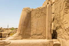 Ancient ruins of Karnak temple in the ancient city of Thebes, Luxor, Egypt royalty free stock images