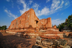 Temple ancient. Images taken in large measure Chai Mongkol Ayutthaya,Thailand Royalty Free Stock Photos