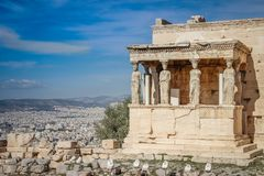 The temple in the ancient capital of Greece royalty free stock photos