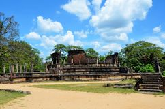 Temple in Ancient city in Polonnaruwa, Srí Lanka royalty free stock photos