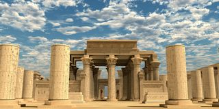 Temple of Ancient Pharaohs stock images
