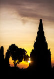 Temple of Ancient Thailand Royalty Free Stock Photography