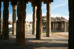 Temple in ancient town Hampi Royalty Free Stock Photography