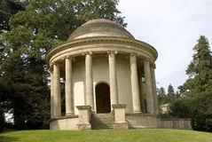Temple of Ancient Virtue. At Stowe Gardens Buckingham UK royalty free stock photography