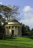 Temple of Ancient Virtue on Elysian Fields in Stowe, Buckinghamshire, UK. Temple of Ancient Virtue on Elysian Fields in Stowe, Buckinghamshire, United Kingdom stock photos
