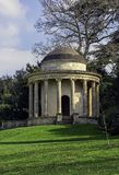 Temple of Ancient Virtue on Elysian Fields in Stowe, Buckinghamshire, UK. Temple of Ancient Virtue on Elysian Fields in Stowe, Buckinghamshire, United Kingdom stock images