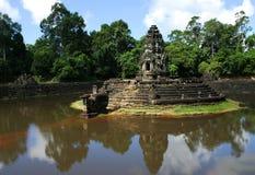 Temple Angcor de Preah Neak Pean. Siem Reap. Le Cambodge Image libre de droits