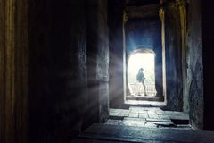 Temple in Angkor Thom, Cambodia Royalty Free Stock Image