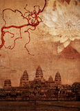 Temple Angkor Wat Illustration Stock