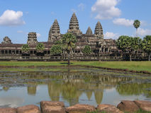 Temple Angkor Wat. Medieval temple Angkor Wat in Cambodia Royalty Free Stock Photos
