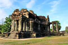 Temple in Angkor Wat. Morning View of Temple in Angkor Wat, Siem Reap, Cambodia Stock Image