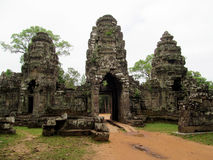 Temple in Angkor Wat, Cambodia, Siem Reap Royalty Free Stock Photo