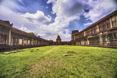 Temple in Angkor Wat. Morning View of temple in Angkor Wat, Siem Reap, Cambodia royalty free stock image