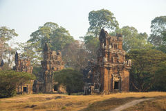 Temple in the Angkor Wat temples 12 Royalty Free Stock Photography