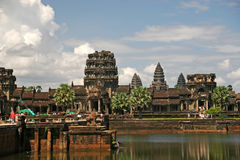 Temple Ankgor Wat in Cambodia. It dates back to 8th century and back than it was about the size of modern LA which makes it larges Royalty Free Stock Photography