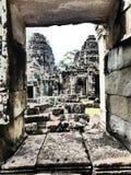Temple antique Angkor Vat/au Cambodge Image libre de droits