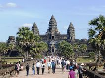 Temple antique Angkor Vat/au Cambodge Photo libre de droits