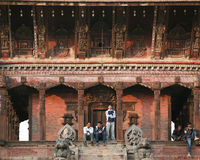 Temple antique, Bhaktapur, Népal Image libre de droits