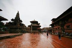 Temple antique, Bhaktapur, Népal Images libres de droits