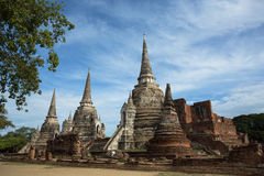 Temple antique dans Ayutthaya Images stock