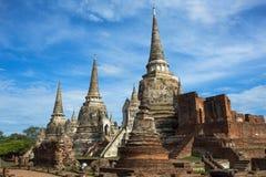 Temple antique dans Ayutthaya Image libre de droits