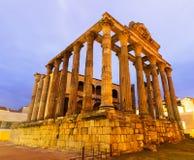 Temple antique dans l'aube Mérida Photographie stock libre de droits