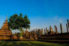 Temple antique dans le sukhothai Thaïlande photos stock