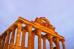 Temple antique de Diana dans le début de la matinée Images stock