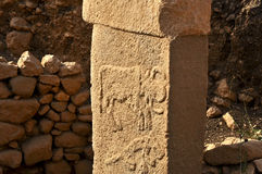 Temple antique de Gobeklitepe Photos libres de droits