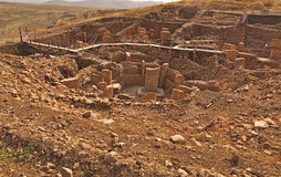 Temple antique de Gobeklitepe Images stock