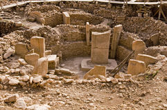 Temple antique de Gobeklitepe Photographie stock