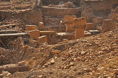 Temple antique de Gobeklitepe Photographie stock libre de droits