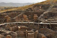 Temple antique de Gobeklitepe Photo stock