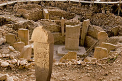 Temple antique de Gobeklitepe Images libres de droits
