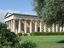 Temple antique de la Grèce Photographie stock